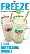 Two freeze drinks at A&W restaurants