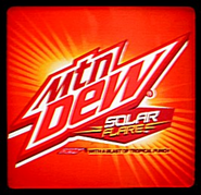 Mountain Dew Solar Flare label