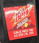 Mountain Dew Goji Citrus Strawberry (Sheetz version)