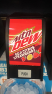 Mountain Dew Goji Citrus Strawberry fountain label