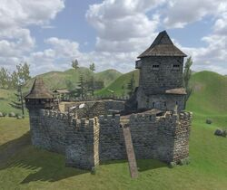 how to get a castle in mount and blade