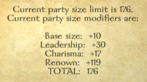Party size