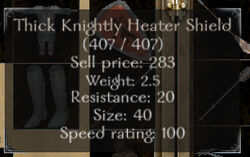 Shield stats