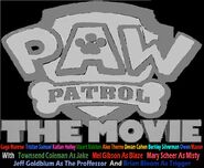 PAW Patrol movie logo(silver) with names