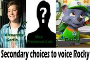 Secondary choices to voice Rocky in a PAW Patrol movie