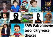 PAW Patrol movie secondary voice choices