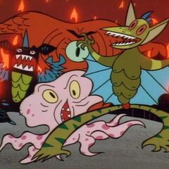 Monsters from <i>The Powerpuff Girls</i>