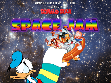 Donald Duck in Space Jam poster