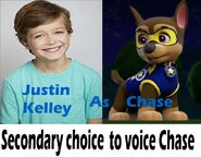 Secondary choices to voice Chase in a PAW Patrol movie