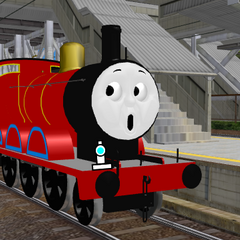(James groans as he bumps his coaches from jolting back)