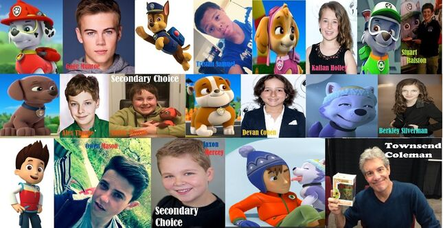 PAW PAtrol movie fancast names updated
