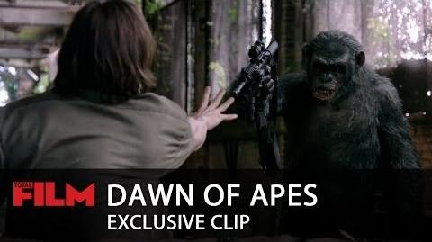 Dawn Of The Planet Of The Apes Koba's weapon