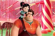 Ralph and Vanellope at Sugar Rush
