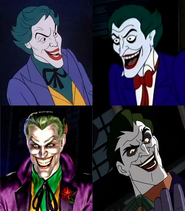 Frank Welker, Richard Epcar, Corey Burton, and John DiMaggio are Jokers