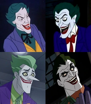 Frank Welker, Corey Burton, Troy Baker, and John DiMaggio are Jokers