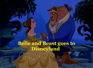 Belle and Beast goes to Disneyland Opening