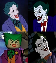Frank Welker, Corey Burton, Steve Blum, and John DiMaggio are Jokers