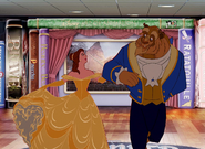 Belle and Beast is having so much fun at Disney Cruise Line