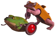 The Frog and Walking Car