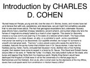 Carmen movie storybook introduction