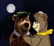 Yogi and Cindy at night