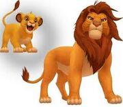 Simba in kingdomk hearts