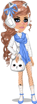 Blue kitty uwu