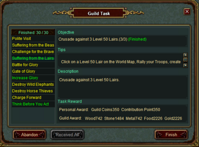 Guild tasks