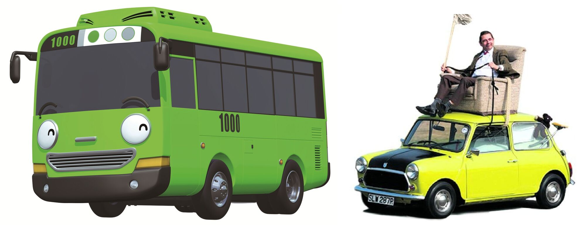 Gas Station With Drive Thru Car Wash >> Image - 1380536265 Tayo The Little Bus Rogi VS Mr Bean Austin Mini Cooper Car Mini 1000 Cars ...