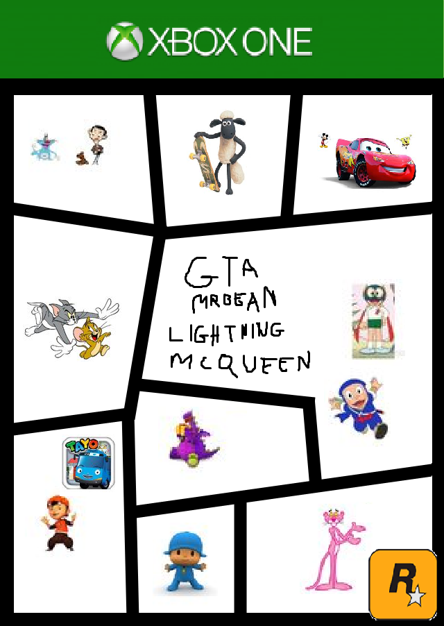 image 19kzo4m xbox one template gta mr bean lightning mcqueen png