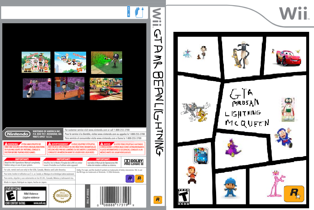 image wii box art game cover template game case by gta mr bean