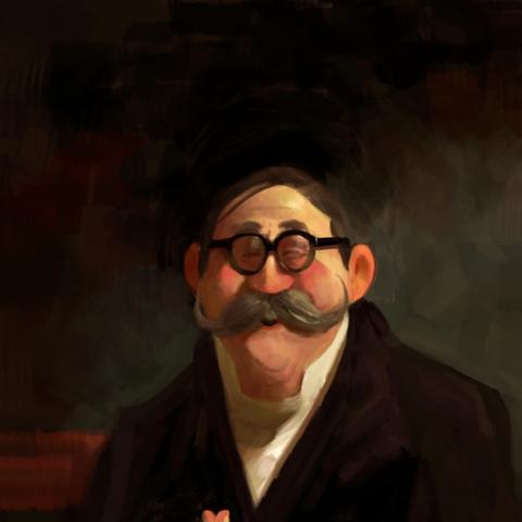 Jay Ward's (original TV show's creator) portrait in Mr. Peabody and Sherman.