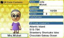 Julia Wicket QR Code Contents