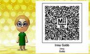 Irma Gobb Mii Tomodachi Life QR