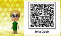 Mii Tomodachi Life QR Irma Gobb