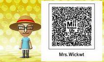 Mrs. Wicket's Friend Mii Tomodachi Life QR