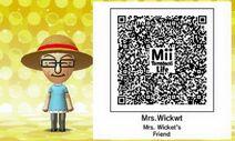 Mii Tomodachi Life QR Mrs. Wicket's Friend