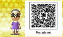 Mrs. Wicket Mii Tomodachi Life QR