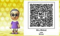 Julia Wicket Mii Tomodachi Life QR