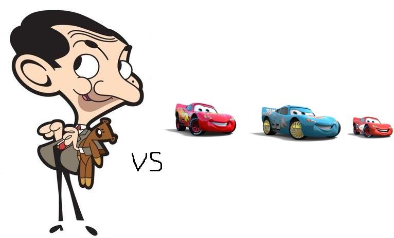 image mr bean vs lightning mcqueen article jpg mr bean the