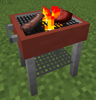 Working grill in game