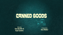 Canned Goods Title Card
