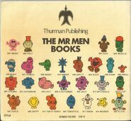 Mr Men Mid 70's back cover