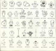 Mr Men mid 1980's inside cover