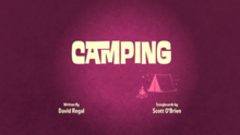 Camping Title Card