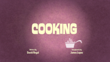 Cooking Title Card