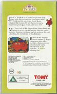 Mr Men Great Alphabet Hunt TV Teddy VHS Back