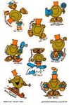 Mr Silly Stickers 1980's
