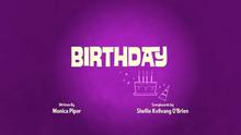 Birthday Title Card