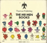 Mr Men Mid 1970's Back Cover
